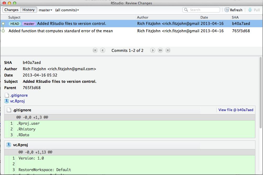 Git Basics Nice R Code